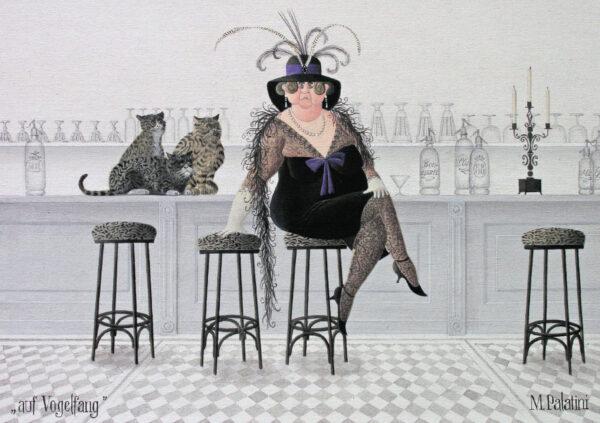 Postkarte Auf Vogelfang - Maria Palatini