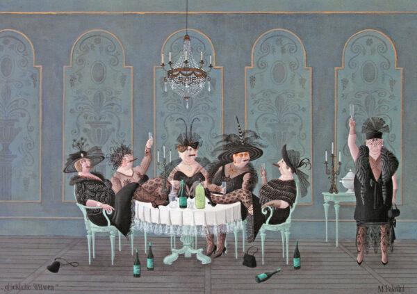 Postkarte Glückliche Witwen - Maria Palatini