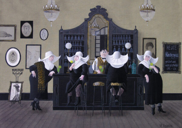 Postkarte Klostergeist - Maria Palatini