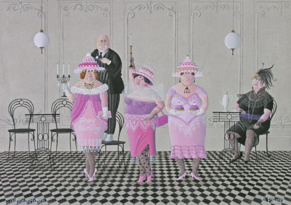 Postkarte Sahnetörtchen - Maria Palatini