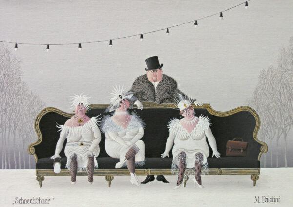 Postkarte Schneehühner - Maria Palatini