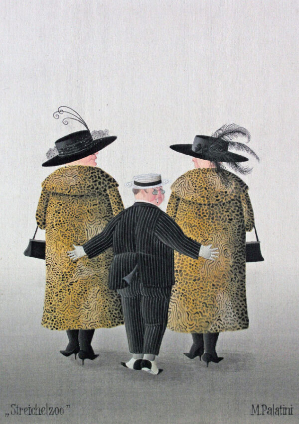 Postkarte Streichelzoo - Maria Palatini